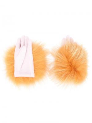 Перчатки Yeti Tsumori Chisato. Цвет: жёлтый и оранжевый