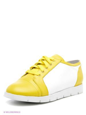 Кеды Vitacci. Цвет: желтый, белый
