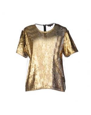 Блузка MANISH ARORA. Цвет: золотистый