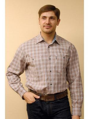 Рубашка Westrenger. Цвет: светло-коричневый
