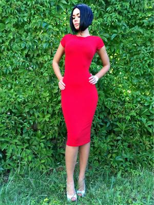 Платье силуэтное (с коротким рукавом) Firma