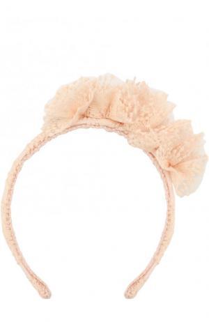 Ободок с цветочным декором I Pinco Pallino. Цвет: розовый