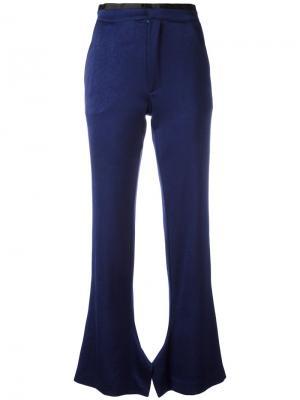 Расклешенные брюки Olive Erika Cavallini. Цвет: синий