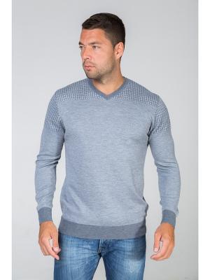 Пуловер John Jeniford. Цвет: серый