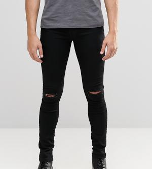 Brooklyn Supply Co. Черные джинсы скинни с дырками на коленях Co. Цвет: черный