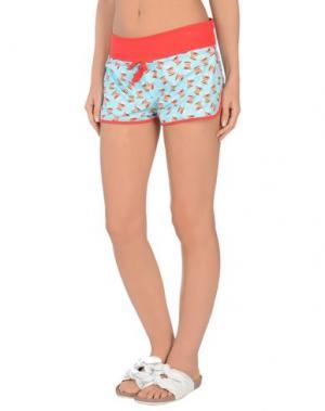 Пляжные брюки и шорты MC2 SAINT BARTH. Цвет: лазурный