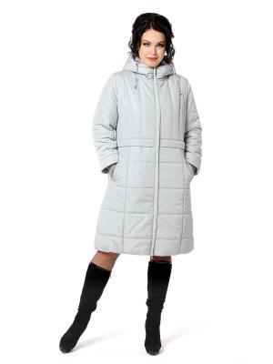 Стеганое пальто DizzyWay. Цвет: светло-серый