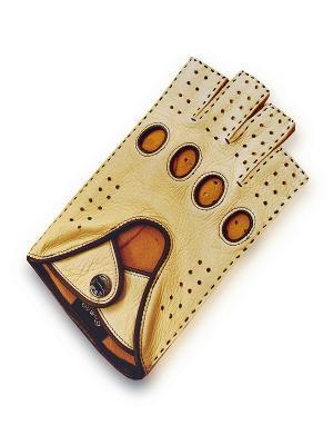 Автомобильные перчатки ESMEE. Цвет: бежевый