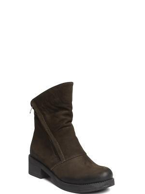 Ботинки MILANA. Цвет: зеленый