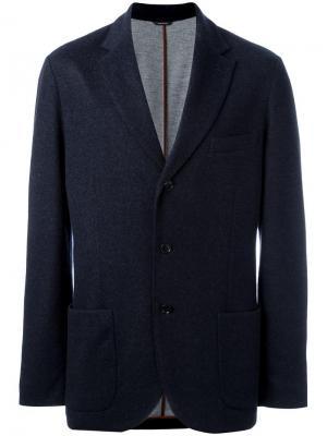 Классический пиджак Loro Piana. Цвет: синий