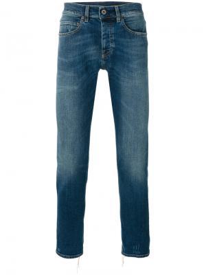 Укороченные джинсы Rico Pence. Цвет: синий