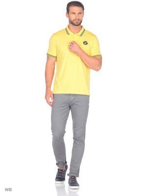 Футболка-поло Fresh. Цвет: желтый