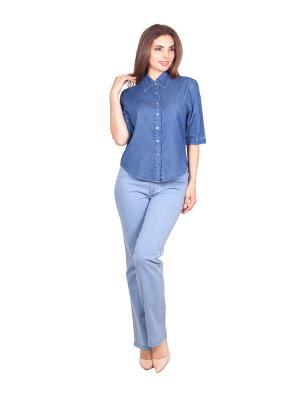 Блузка LAFEI-NIER. Цвет: синий