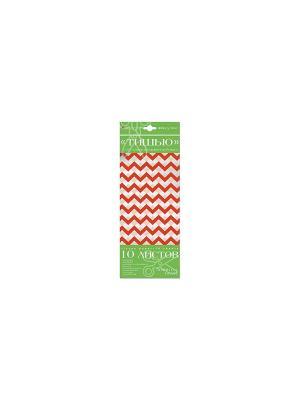 Бумага с орнаментом тишью, 10 листов, ёлочка Альт. Цвет: розовый