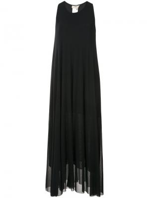 Платье-топ макси Fuzzi. Цвет: чёрный