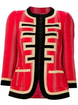 Твидовый пиджак из люрекса Givenchy. Цвет: красный