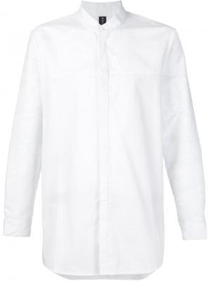 Рубашка с воротником-стойкой Rochambeau. Цвет: белый