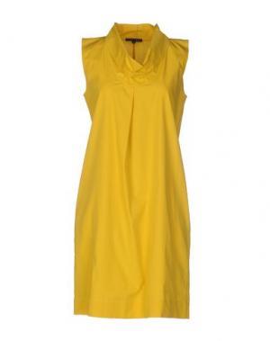 Короткое платье BRIAN DALES. Цвет: желтый