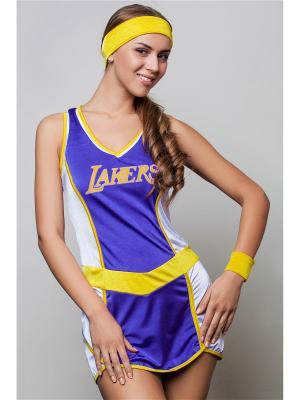 Костюм баскетболистки La Mascarade. Цвет: фиолетовый,желтый