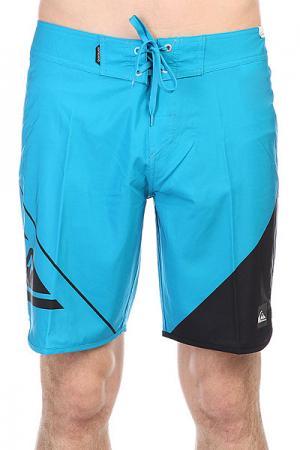 Шорты пляжные  New Wave 19 Hawaiian Quiksilver. Цвет: черный,голубой