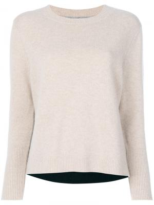 Cashmere ribbed sweater Chinti & Parker. Цвет: телесный