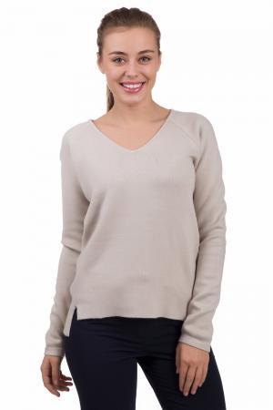 Пуловер Comma. Цвет: бежевый