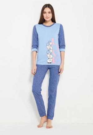 Пижама TrendyAngel. Цвет: голубой