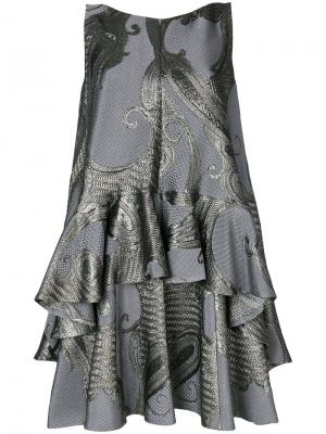 Платье Nostra Talbot Runhof. Цвет: серый