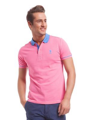 Футболки-поло U.S. Polo Assn.. Цвет: розовый