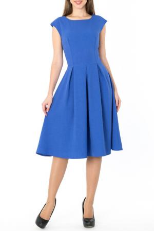 Стильное платье-миди с расклешенной юбкой S&A style. Цвет: васильковый