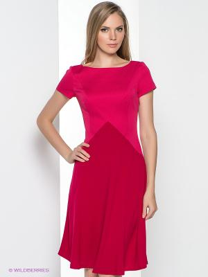 Платье KEY FASHION. Цвет: малиновый