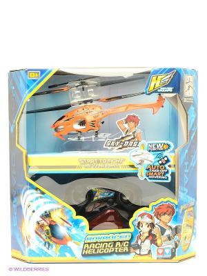 Игрушка Вертолет SKY-DASH с гироскопом AULDEY. Цвет: оранжевый, черный, красный
