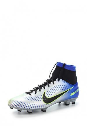 Бутсы Nike. Цвет: серебряный