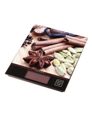 Весы кухонные электронные Supra BSS-4097. Цвет: коричневый
