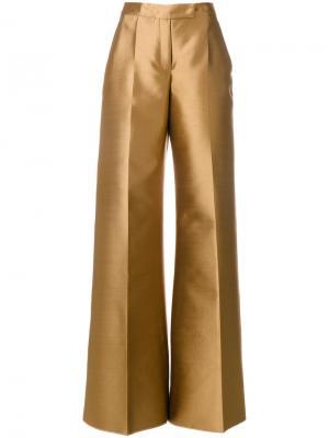 Расклешенные брюки Antonio Berardi. Цвет: коричневый