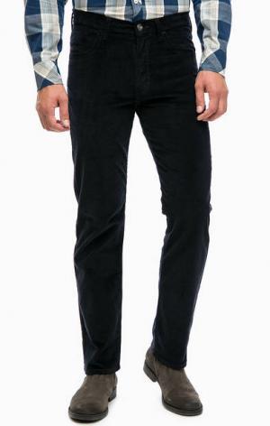 Синие вельветовые брюки прямого кроя Wrangler. Цвет: синий