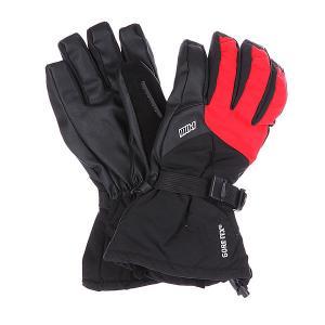 Перчатки сноубордические  Warner Glove Black/Red Pow. Цвет: красный