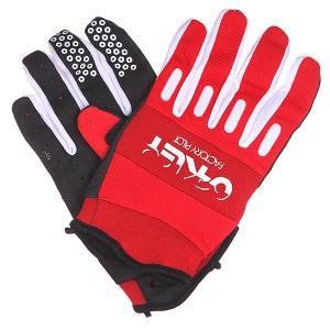 Перчатки  Factory Glove Red Line Oakley. Цвет: белый,красный