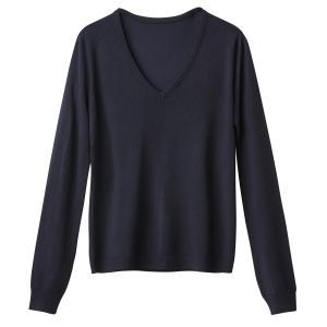 Пуловер из тонкого трикотажа с V-образным вырезом La Redoute Collections. Цвет: красный,розовый фуксия,синий морской,черный,ярко-синий