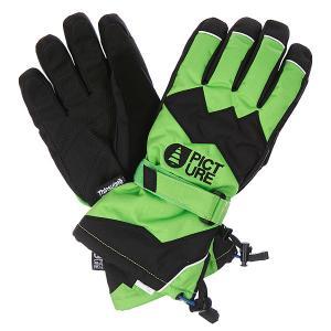 Перчатки сноубордические  Never Green Picture Organic. Цвет: зеленый,черный