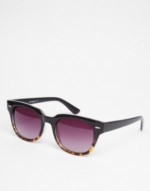 AJ Morgan Солнцезащитные очки в черной квадратной оправе. Цвет: черный
