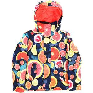 Куртка утепленная детская  Jet Girl Lemon Tonic Roxy. Цвет: мультиколор