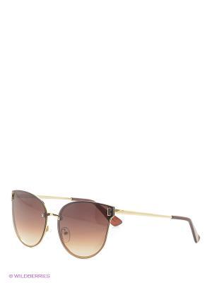 Солнцезащитные очки Vita pelle. Цвет: золотистый, коричневый