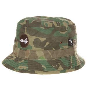 Панама  Riveria Bucket Hat Camo Cliche. Цвет: зеленый,коричневый,бежевый,камуфляжный