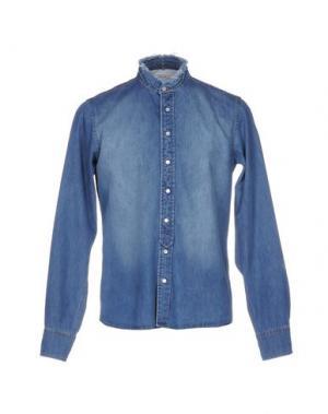 Джинсовая рубашка D.R SHIRT. Цвет: синий