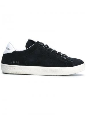 Классические кроссовки на шнуровке Leather Crown. Цвет: синий