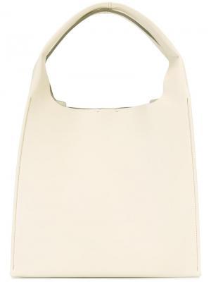 Структурированная сумка-тоут Maison Margiela. Цвет: красный