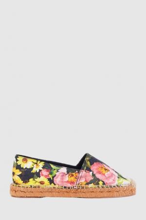 Эспадрильи с цветочным принтом Dolce&Gabbana. Цвет: multicolor