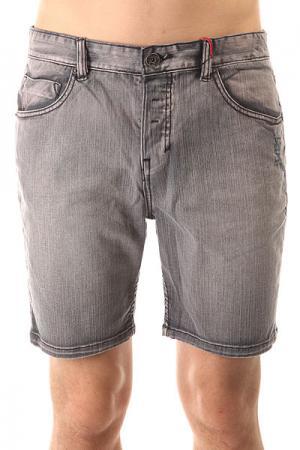 Шорты джинсовые  Soulsuckin Walkshort Old Indigo Globe. Цвет: серый