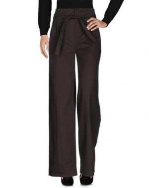 Повседневные брюки VERONIQUE BRANQUINHO. Цвет: стальной серый